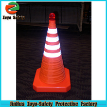 """Zoyo-Safety Factory Wholesale Road Leader Adjustable Reflective PVC Or Cotton plastic 36"""" traffic cone"""
