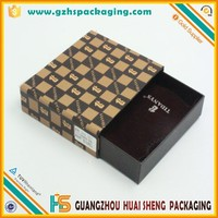 Customized all size slide draw packaging cufflink cardboard gift boxes with puller
