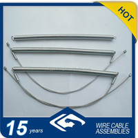compressed spring steel cable with zinc nipples