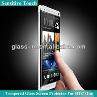 Sensitive Touch Tempered Glass Screen Cover For HTC One Series Factory Supply