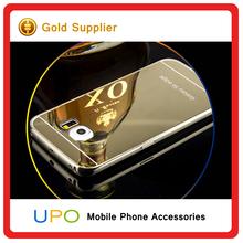 [UPO] 24k Golden Back metal aluminium Bumper Mirror cellphone case For Samsung Galaxy s6 edge
