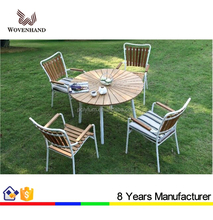 Oval rattan coffee table and chairs set