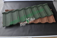 Eave tiles stone coated metal roofing tile / Sand coated stone chip coated metal roofing sheet