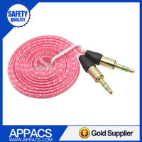 High quality new arrival 3.5mm shielded jack stereo audio power cables
