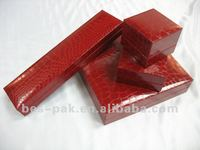 red fancy paper wrapped Plastic jewelelry boxes