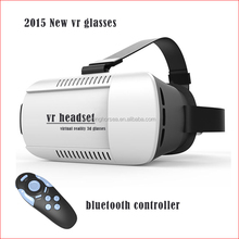 Google cardboard VR BOX Version VR Virtual Reality Glasses + Bluetooth Wireless Mouse / Remote Control / Gamepad VR BOX 3D Glass