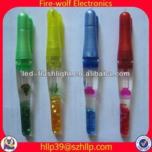 2014 China Supplier New Style Colourful Led Flashing thermometer ball pen