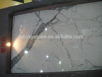 Own Factory Cheap Polished Good Quality Italian Snow White Marble