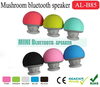 High Quality Mushroom Silicone mini bluetooth speaker for all the bluetooth device music speaker mobile phone speaker handsfree