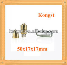 Silver/Golden Bullet Shaped 8GB USB/Metal USB Flash Drive