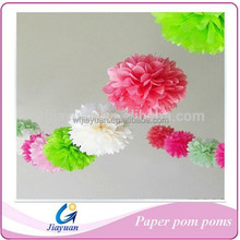 Full Paper Pompoms Balls 3 Sizes/ SET ~ Weddings ~ Decoration~ Event