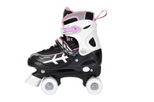 (2015) safety and quality 4 size adjustable quad roller skate for girl with ce