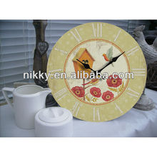 hot selling round wall clock&cuckoo clock and bird sound clock for decoration
