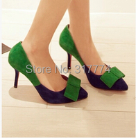 Мода указал мыс мелкий рот лук краситель матч Формальные платье свадьба высоких каблуках смокинг обувь