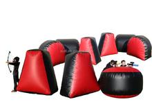 Laser archery tag arena/ Inflatable paintball bunker games