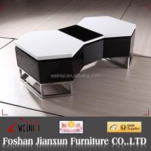 YA617 Black and White design High gloss Rotate Coffee table