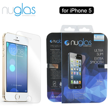 Nuglas 9H Anti-broken Anti Scratch for iPhone 5/5s Tempered Glass Screen Protector with Retail Packaging