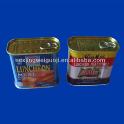 Easy Open End Rectangular Metal Tin Can for corned beef