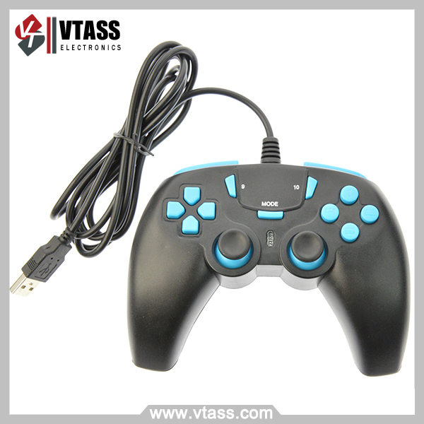 Game Pad Para Pc 12 Botones Usb 2.0 Control Joystick negro