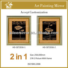 Luxury home decorative art picture in plant painting