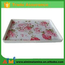 high quality new design rectangular melamine tray , melamine platter
