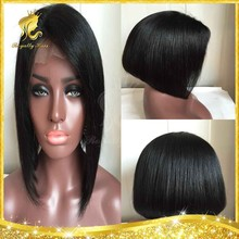 Short Cut 100% Virgin Brazilian Glueless Lace Front Wigs / Full Lace Wigs Human Hair Bob Style Remi Hair Wigs For Black Women
