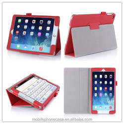 Hot selling wholesale folio stand high quality PU leather case for ipad air 2