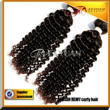 100% virgin no tangle no shedding high quality Mongolian virgin kinky curly human hair bundles