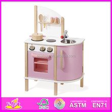 2015 New and popular kitchen set toy for kids,Funny wooden play kitchen for children,Hot sale wood kitchen set for baby W10C070A