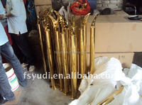 indoor luxurious gold color stair handrail for decoration