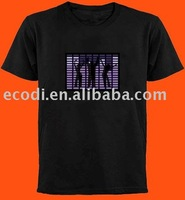 High Quality Over 500 Style In Stock EL T-shirt/sound active EL T-shirt/Equalizer EL T-shirt