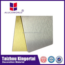 Hot sale Alucoworld exterior advertising panels latest design plastic wall covering panels