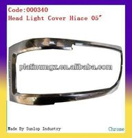 toyota hiace body kits #000340 hiace headlight cover chrome headlamp cover for hiace chrome