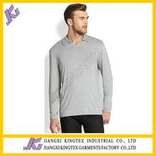 Good Quality 100% Soft Cotton V Neck polo t shirt factory