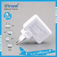 Travel adapter 4 usb travel adapter mobile phone accessory,plug adapter with aus/us/uk/eu plugs