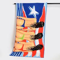 100% microfiber printed beach towel