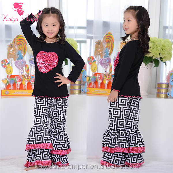 New arrival wholesale cotton girls child clothes for 1-6years
