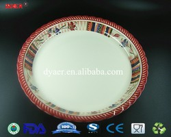 13.7'' cheapest food / fruit melamine dishes and plates
