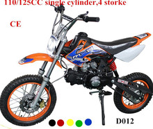high quality kich start125cc dirt bike single cylinder 4 storke 110CC Pit Bikes for sale cheap