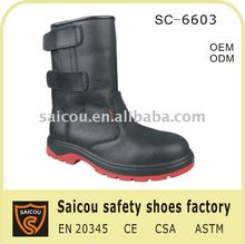 "Men's 10"" Russia Winter Wellington EH Steel Toe Boot and fashionable military rain boots SC-6603r"