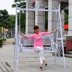 Outdoor Patio Garden Wrought Iron Swing