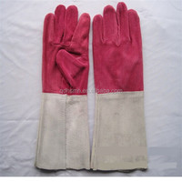pink leather gloves china leather welding gloves safety glove