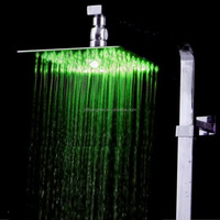 Hot sale color changing led overhead rain shower head 8""
