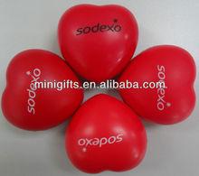 High quality PU anti stress heart /promotional gifts PU foam heart shape stress ball/kids toys soft PU foam