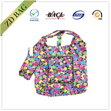 eco recycled foldable shopper bag with zipper pouch
