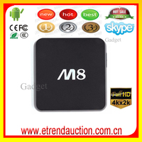 2015 Best Selling Amlogic S802 Quad Core TV Box Android HD Video Film Video Blue Indonesia