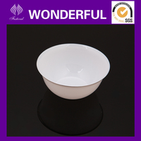 Small plastic disposable salad bowl