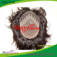 6A top quality swiss lace hair toupee all handtied men's hair wigs qingdao shandong customized toupee for you
