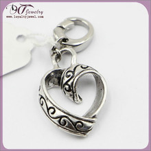 Latest pendants charms Metal Charms heart charm accessories