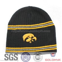 3D embroidery Knitted Men Hat